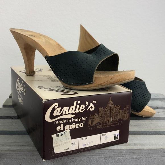 Vintage 7s Candies Slides Sandals